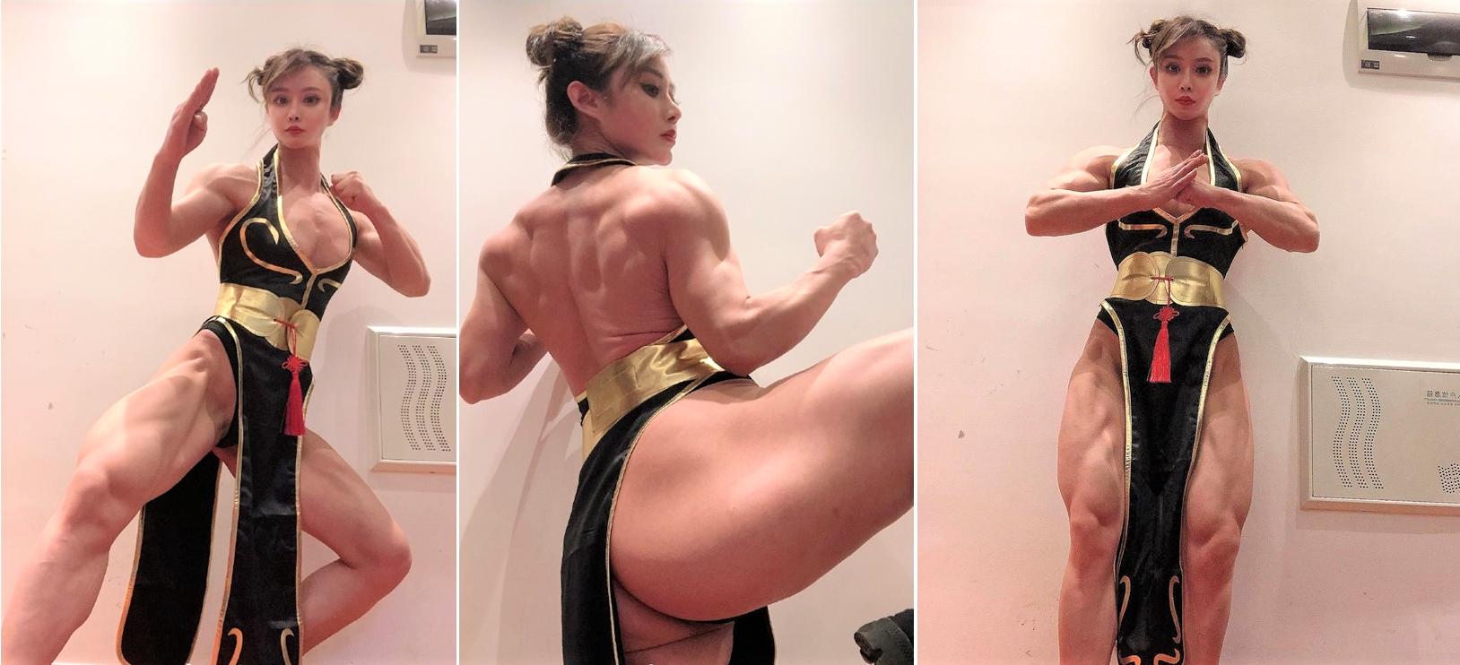 【有片🔥必睇】春麗真身靚到癲    肌肉+樣貌激似度達98%
